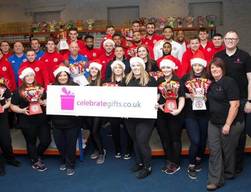 Accrington Stanley players team up with Celebrate Gifts to bring cheer to children in hospital this Christmas