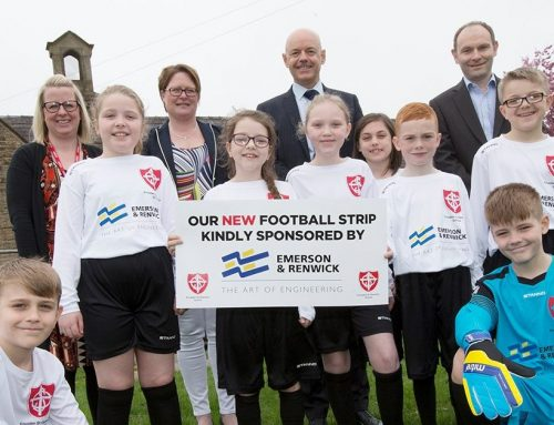 School children say thanks to Emerson and Renwick for new kit