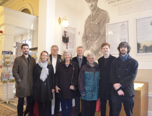Commemorative Paving Stone laid for Accrington Pal Awarded the Victoria Cross during First World War
