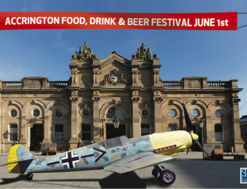 Accrington Food and Drink Festival land a WWII Plane for the Town Square