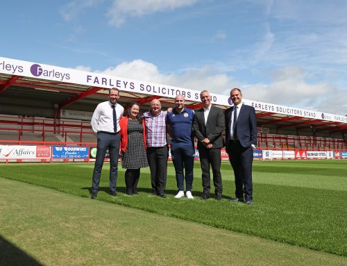 Farleys Solicitors unveiled as new stand sponsors for Accrington Stanley