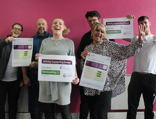 We are Outstanding! Affinity Supporting People rated 'Outstanding' by CQC