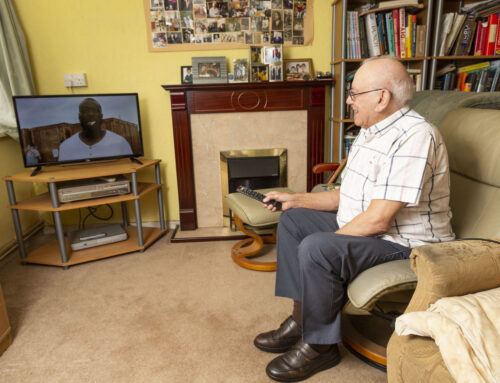 Elderly man receives new TV after writing a letter to retailer