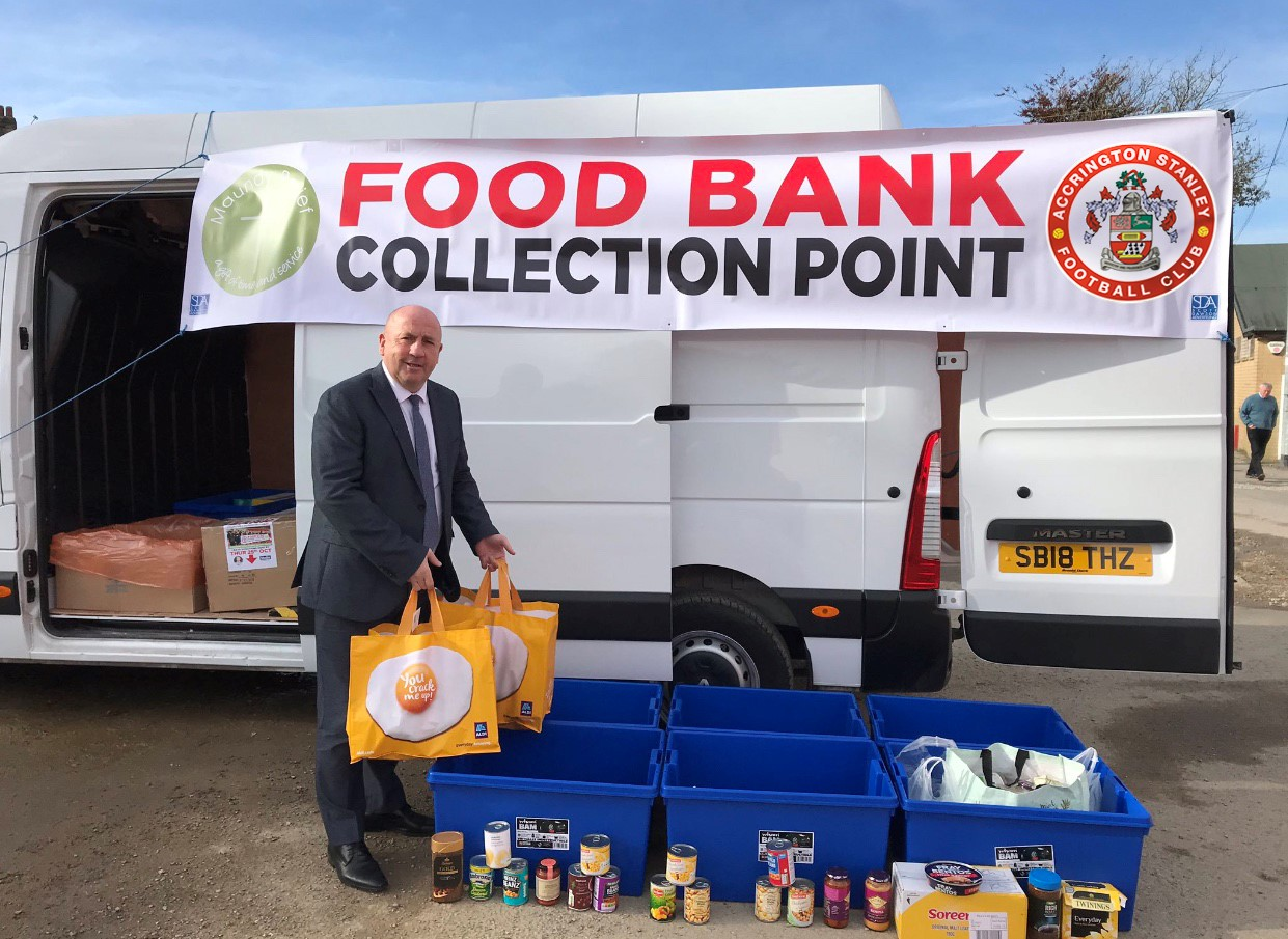 Accrington Stanley Food Bank Collection