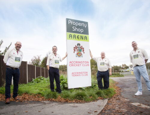 Top Local Estate Agent Property Shop Renews its Sponsorship Deal with Accrington Cricket Club