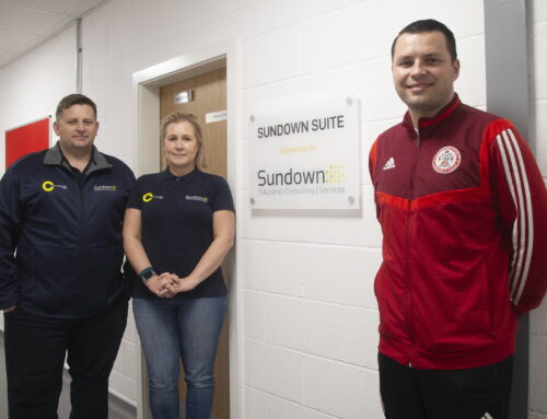 Sundown Solutions' Sponsorship Deal Spells Sun Up for Accrington Stanley Community Trust