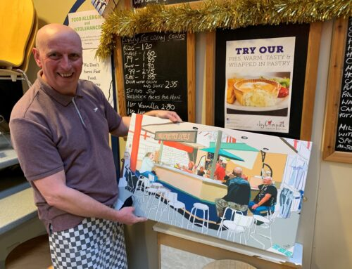 #AmazingAccrington treats Russell from Tricketts to a lovely painting of himself