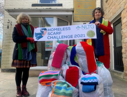 North Lancs Training Group Staff in Scarves for the Homeless Challenge