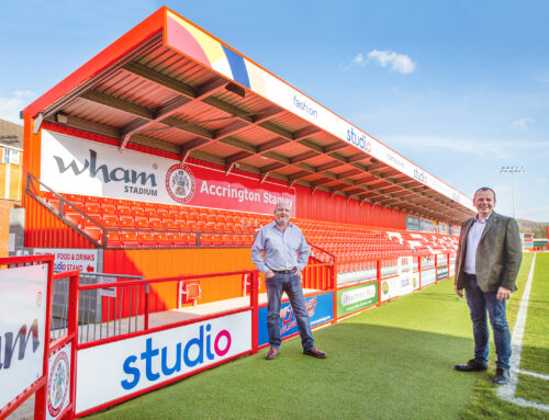 Studio sponsor the Accrington Stanley Family Stand for the second 3 year term