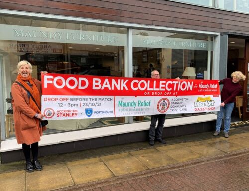Reds launch annual food bank collection for Maundy Relief